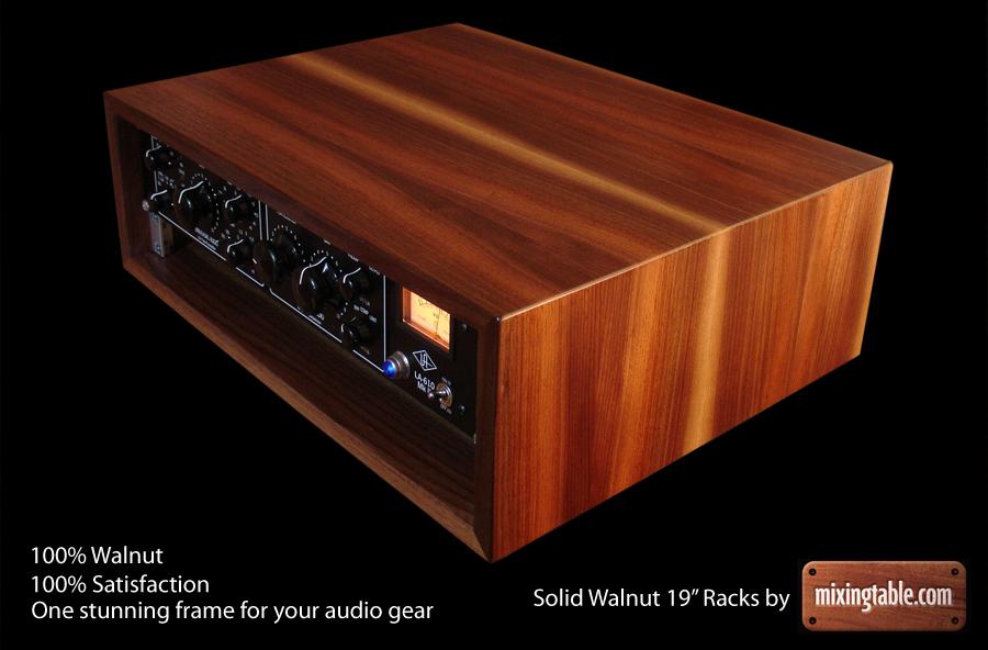 19 inch walnut racks for audio gear by mixingtable com