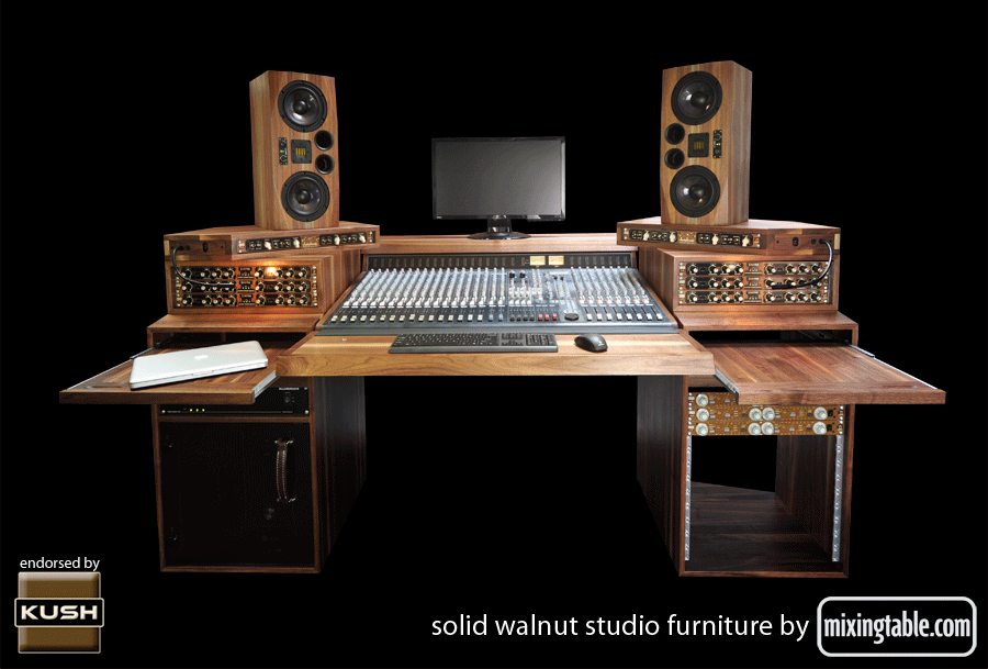 Walnut Studio Desk For The Allen And Heath GS R24 By