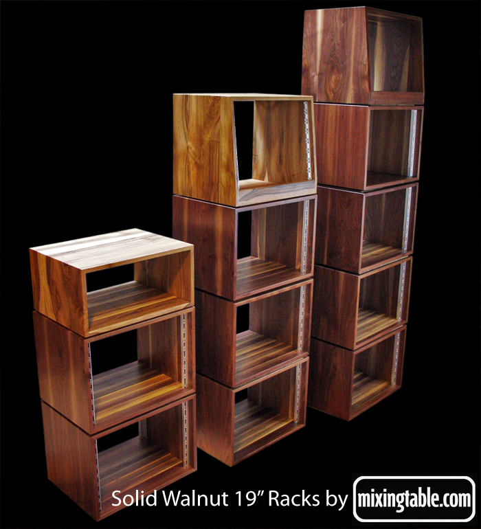 19 Inch Walnut Racks For Audio Gear By Mixingtable Com