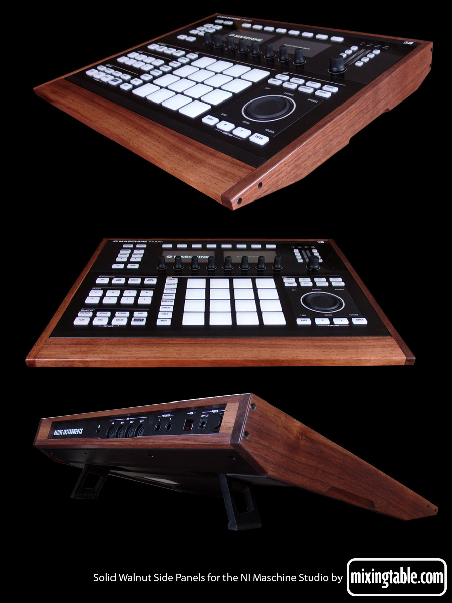 Walnut Side Panels for Maschine Studio by Mixingtable.com