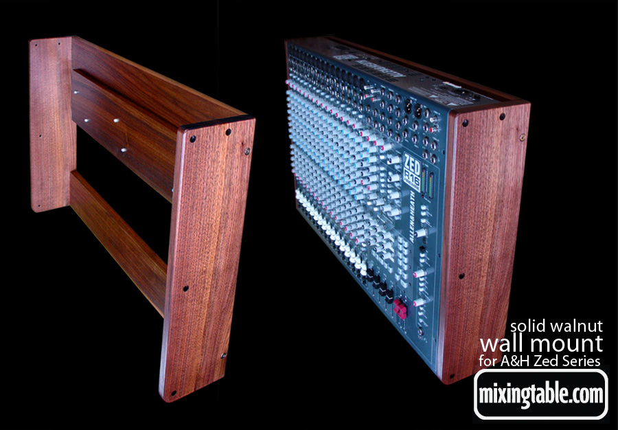 wall mount for the zed R16 by mixingtable.com