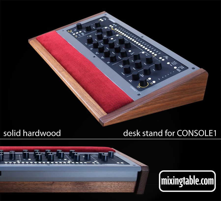 solid hardwood desk stand for console1 by mixingtable.com
