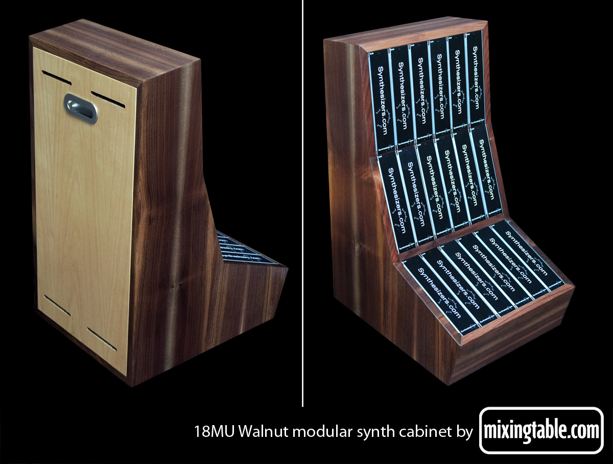 18MU walnut modular cabinet by mixingtable.com