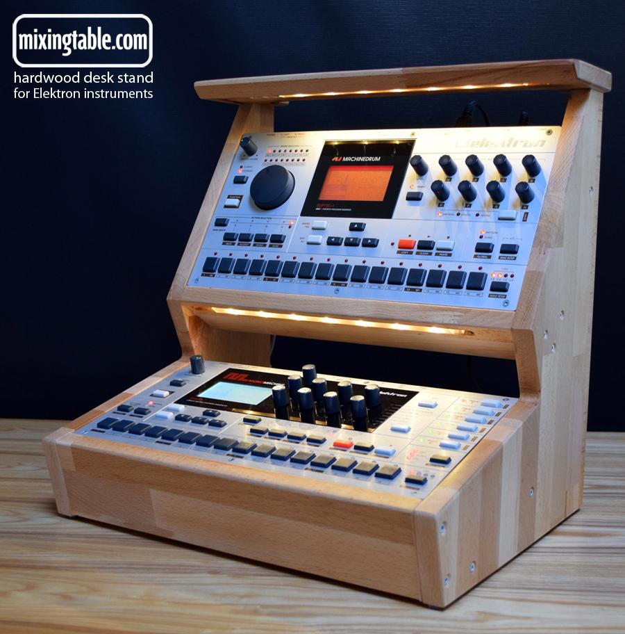 desktop stand for Elektron instruments by mixingtable